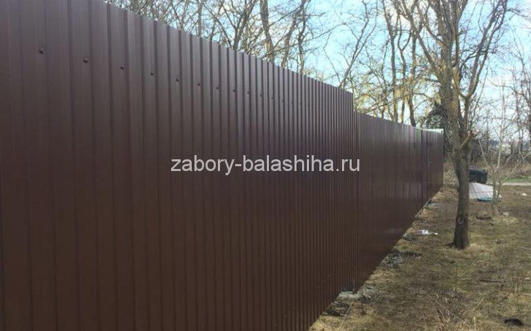 забор из профлиста в Балашихе
